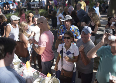 Crowds at the Arts and Crafts Fair on City Island